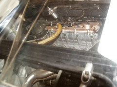 Patrese Alboreto Lancia Montecarlo Turbo  engine rear structure ignition exhaust pipes  DSC_0059