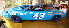 Richard Petty number 43 Ford Torino 427 c.i. right profile double wide
