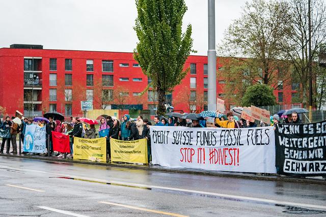 Klimastreik - Credit Suisse GV