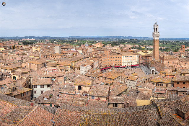 On the rooftop of Siena