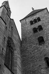 Tour romane de l'abbatiale de Wissembourg - Photo of Oberhoffen-lès-Wissembourg