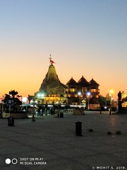 Somnath Temple in evening.