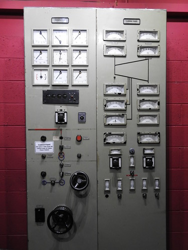 Generator control panel of the power station which burnt Arigna coal. Arigna Mining Experience. Made in Germany.