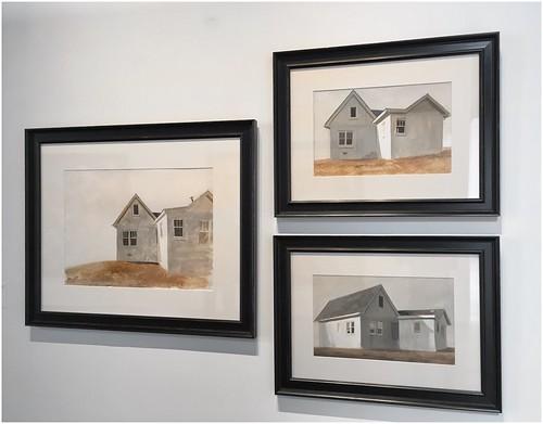 Three Gouache Studies, 2009 - 2010, for HOME by Bo Bartlett