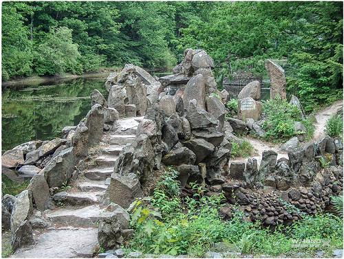 Kromlauer Park - Zugang zur Rakotzbrücke