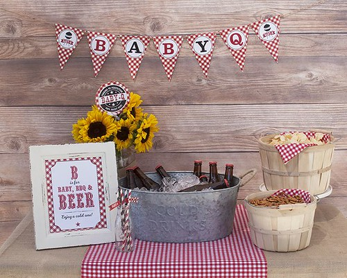 Baby Q Shower Ideas, Couples Baby BBQ Baby Shower, Co-ed baby shower ideas