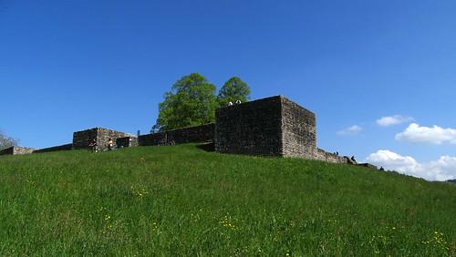 Alte Mauern des Kastell Irgenhausen