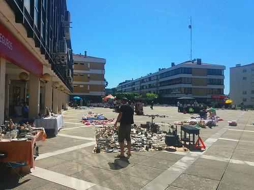 Feira popular em Águeda, Portugal.