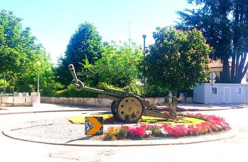 Canhão em Águeda,  Portugal.