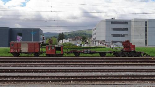SBB Baukran Xa, Hilfswagen und Tm II 633