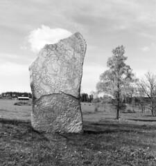 Rune stone, Stav, Roslags-Kulla, Uppland, Sweden
