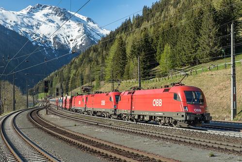 ÖBB 1016 002, 1116 127 en 1116 275. Tauernbahn Malnitz-Obervellach