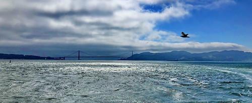 Panoramic view of the Golden Gate Bridge