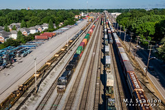 NS 9595 | GE C44-9W | NS Harris Yard