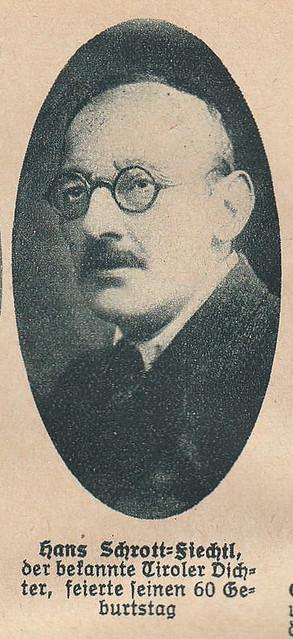 Photo:Hans Schrott-Fiechtl, historian of Tyrolia By quinet