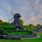 Summer sunrise over Bursledon Windmill, Hampshire, UK