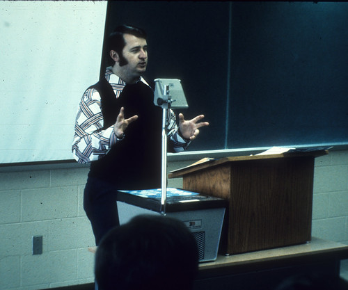 1975 Baxter, Dick teaching in Witmer classroom