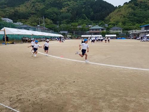 May and Classmates Running