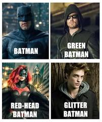 glitter Batman Pattinson