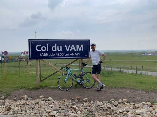 117km, climbing the Col du VAM four times.