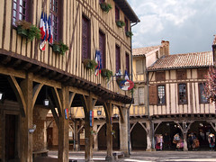 One of the best bastide market places in France. Mirepoix, Midi-Pyrenees, France - Photo of Lagarde