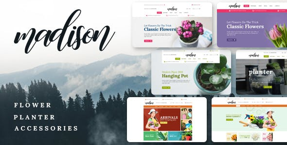 Madison v1.2 - Flowers, Plant, Beauty, Gardening tools, Food store, Nursery Shopify Theme