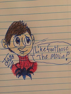 I was bored and doodled Spider-Man/Peter Parker (I know that's not what his logo looks like but this was just a doodle xD) also who's excited and scared for Endgame next week? XD