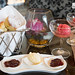 Warm scones and raspberry sorbet