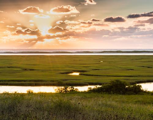 Eastham (MA) United States Picture : Sunrise over Nauset Marsh