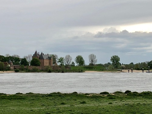 River Waal at Loevestein Castle the Netherlands