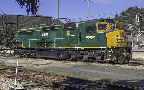 SSR's Locomotive C509 sitting in Eskbank Yard at Lithgow NSW