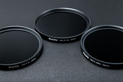 ND filters of different strengths. ND0.9 8X up to ND3.0 1000x