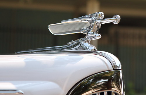 Hood ornament with wings