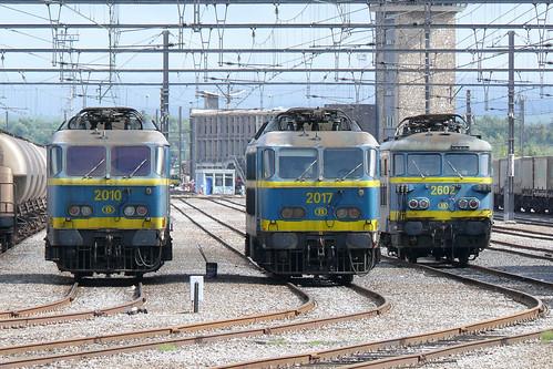 SNCB/NMBS 2010 + 2017 + 2602 Montzen-Gare 07.09.2008