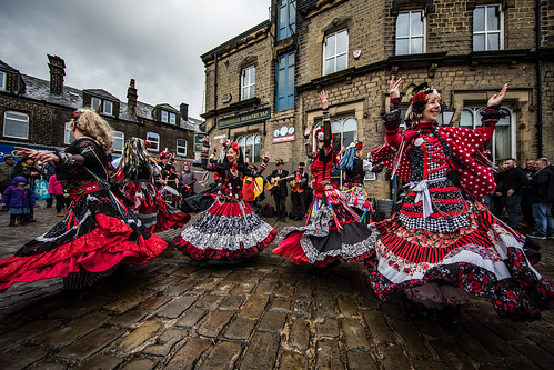 Dancers at Marsden Cuckoo Festival - 400 Roses