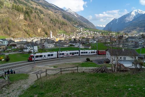Changed railway infrastructure Poschiavo: Allegra on double track (3/4)