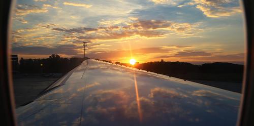 Sunset at Boryspil International Airport - Ukraine