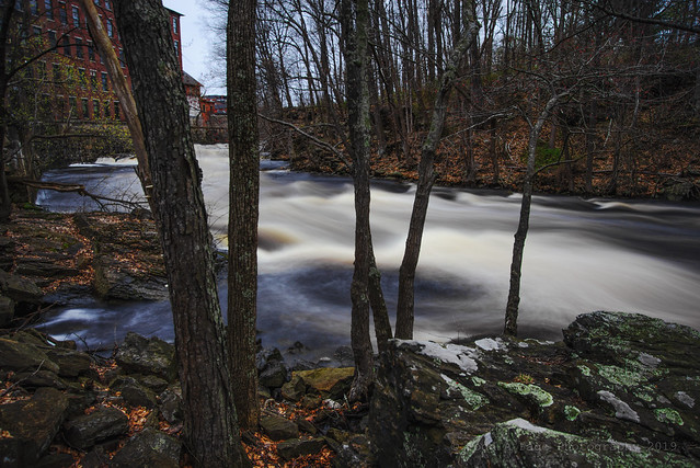 DSC_9760 Spring runoff at Canal St Mill in Somersworth NH