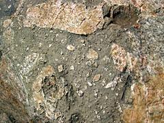 Clast-rich impact pseudotachylite (Sudbury Breccia, Paleoproterozoic, 1.85 Ga; Windy Lake Northwest roadcut, Sudbury Impact Structure, Ontario, Canada) 4
