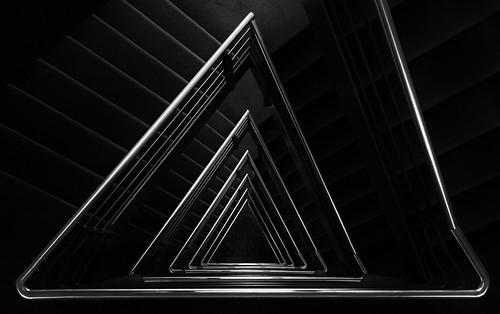 Triangular staircase