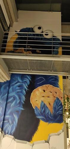 wall painting at koekenfabriek Merksem