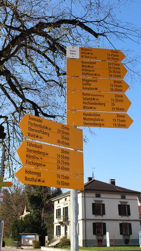 Bauma - Hauptwegweiser am Bahnhof