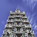 The Front Tower (gopuram) of the Hindu Mariamman Temple on Temple Street in Singapore