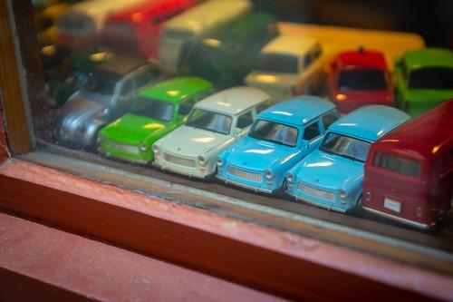 "Remembering the ""Trabbi"" ... models seen in a shop in Erfurt, Germany"