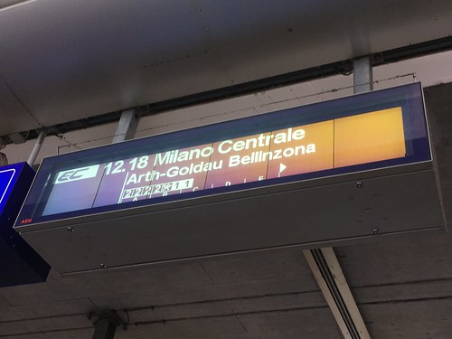 Luzern: Einsteigen und in Milano umsteigen - das wär's...