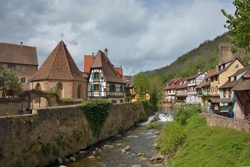 La Weiss et la Chapelle de l'Oberhof à Kaysersberg