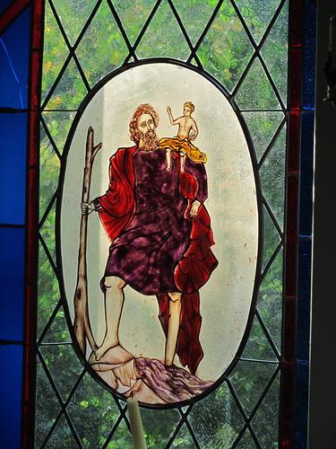 20110831 15 070 Jakobus Kapelle Fenster Christopherus