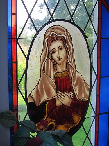 20110831 15 074 Jakobus Kapelle Fenster Maria