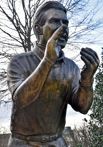 Nick Saban Statue -- University of Alabama Tuscaloosa (AL) February 2019