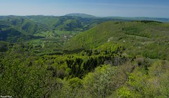 Vue de Nans Sous Sainte Anne du montmahoux - 823 m d'altitude